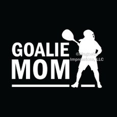 Lax Goalie Mom Female Window Decal