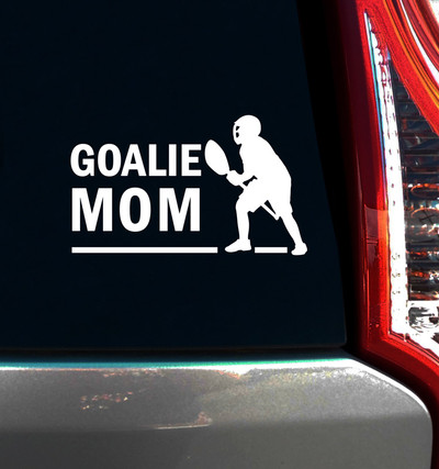 Lacrosse Goalie Mom Male Window Decal