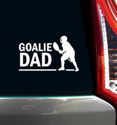Lacrosse Goalie Dad Male Window Decal