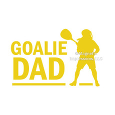 Lax Goalie Dad Female Window Decal