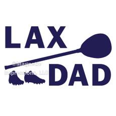 Lax Goalie Dad Gear Window Decal