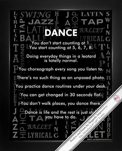 Framed Dance Styles 8x10 Sport Poster Print