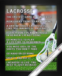 Framed Lacrosse Player Just Details 8x10 Sport Poster Print