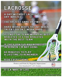 Lacrosse Player Way of Life 8x10 Sport Poster Print