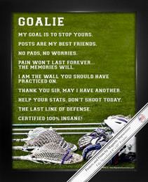 Framed Lacrosse Goalie 8x10 Sport Poster Print