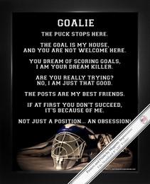 Framed Ice Hockey Goalie Helmet 8x10 Sport Poster Print