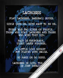 Framed Lacrosse Player Gritty 8x10 Sport Poster Print