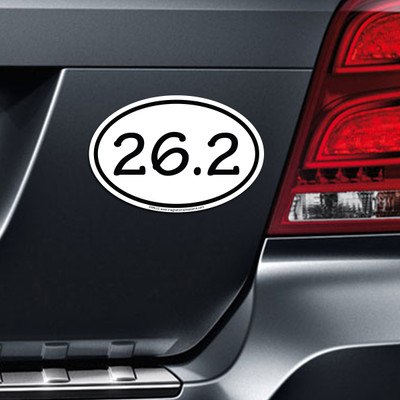 26.2 Marathon Car Magnet on Car