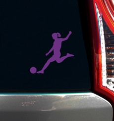 Soccer Female Window Decal