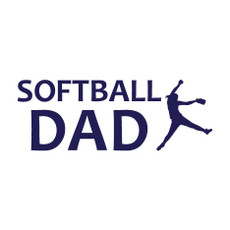 Softball Dad Pitcher Window Decal in Blue