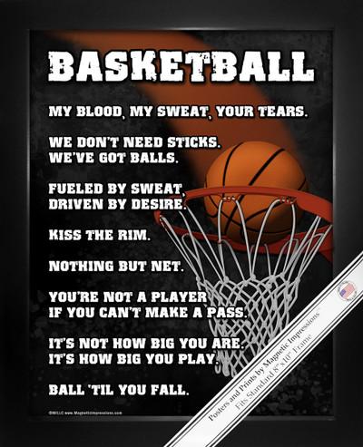 Framed Basketball Player 8x10 Sport Poster Print