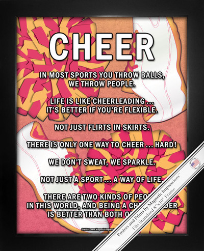 Framed Cheer Poms 8x10 Sport Poster Print