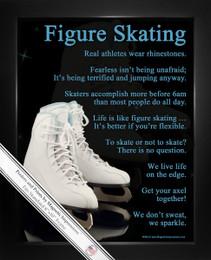 Framed Figure Skating Skates 8x10 Sport Poster Print