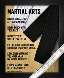Framed Martial Arts 8x10 Sports Poster Print