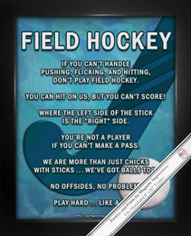Framed Field Hockey Player Stick 8x10 Sport Poster Print