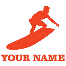 Surfer Ride Window Decal in Orange