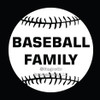 Baseball Family Window Decal in White