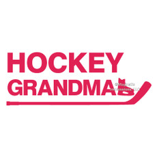 Hockey Grandma Window Decal in Hot Pink