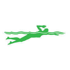 Swimmer Female Freestyle Window Decal