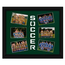 Soccer Burst Photo Mat in Green