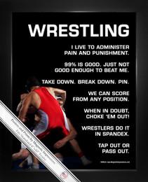 Framed Wrestler 8x10 Sport Poster Print