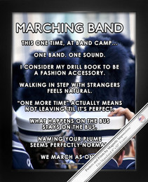 Framed Marching Band 8x10 Sport Poster Print