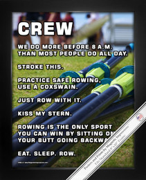 Framed Crew Rowing 8x10 Sport Poster Print
