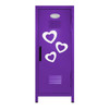 Hearts Mini Locker Purple