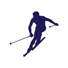 Skier Window Decal