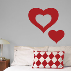Hearts Wall Décor in Red