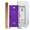 Mini Locker Purple. Ruler not included.