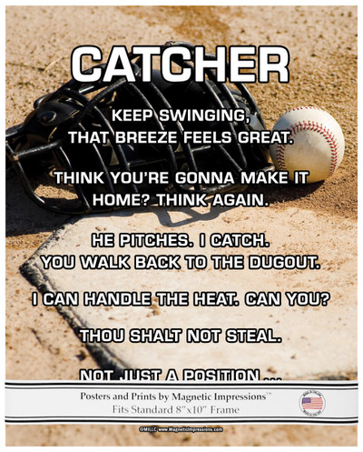 Unframed Baseball Catcher 8x10 Poster Print