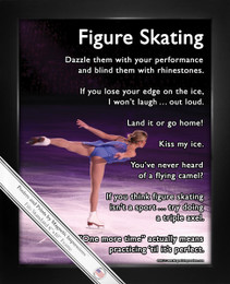 Framed Figure Skater on Ice 8x10 Sport Poster Print
