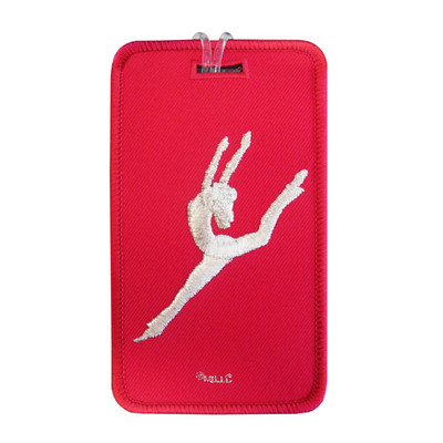 Contemporary Jazz Dancer Hot Pink Luggage Tag