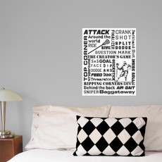 Lacrosse Attack Player Slang 16x20 Wall Decal
