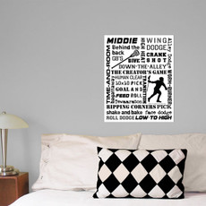 Lacrosse Middie Player Slang 16x20 Wall Decal