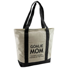 Goalie Mom® Cotton Canvas Tote Bag