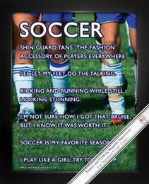 """Framed Soccer Female Players 8"""" x 10"""" Sport Poster Print"""