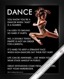 Framed Dancer Jump 8x10 Sport Poster Print