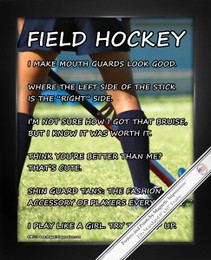 Framed Field Hockey Player 8x10 Sport Poster Print