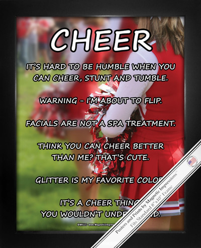 Framed Cheerleader on Field 8x10 Sport Poster Print
