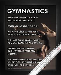 Framed Gymnast Pose 8x10 Sport Poster Print