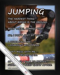 Framed Horseback Jumping 8x10 Sport Poster Print