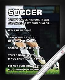 """Framed Soccer Player Male 8"""" x 10"""" Sport Poster Print"""