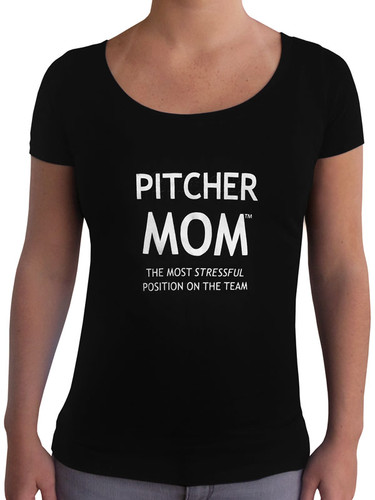 Women's Pitcher Mom T-Shirt - Slim Fit Scoop