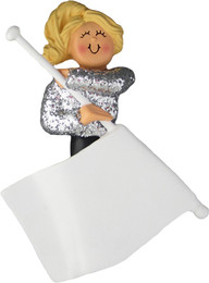 Color Guard Flag Ornament Blonde