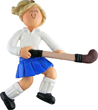 Field Hockey Ornament Blonde