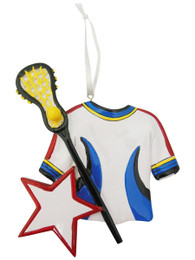 Lacrosse Jersey and Stick Ornament
