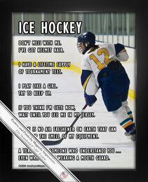 Framed Ice Hockey Female Player on Ice 8x10 Sport Poster Print