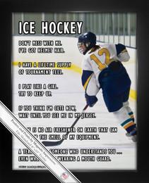 Framed Ice Hockey Female Player on Ice 8x10 Sport Poster Print